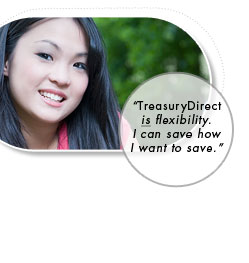 TreasuryDirect is flexibility. I can save how I want to save.